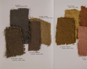 fabric Samples SET 4 | brown & green