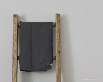Grey Linen Bath Towel