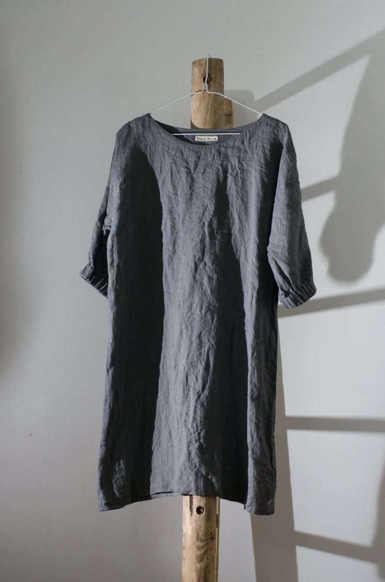 ede761c4448 MOON linen dress custom length