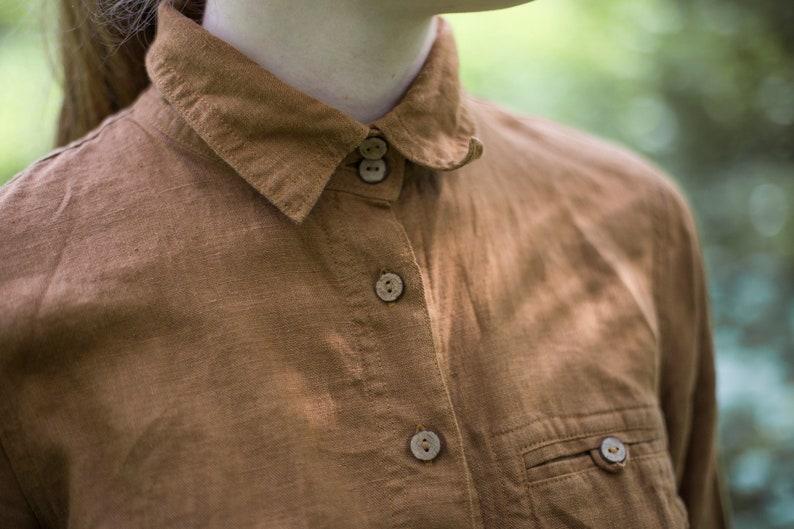 CLASSIC linen shirt linen shirts loose linen shirt linen shirt for women