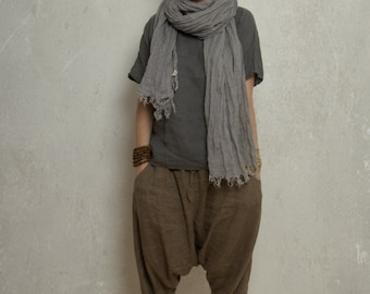 linen harem pants  SHANTI / trousers / yoga pants