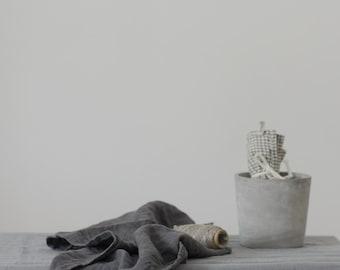 set of 2 LINEN TEA TOWELS. grey