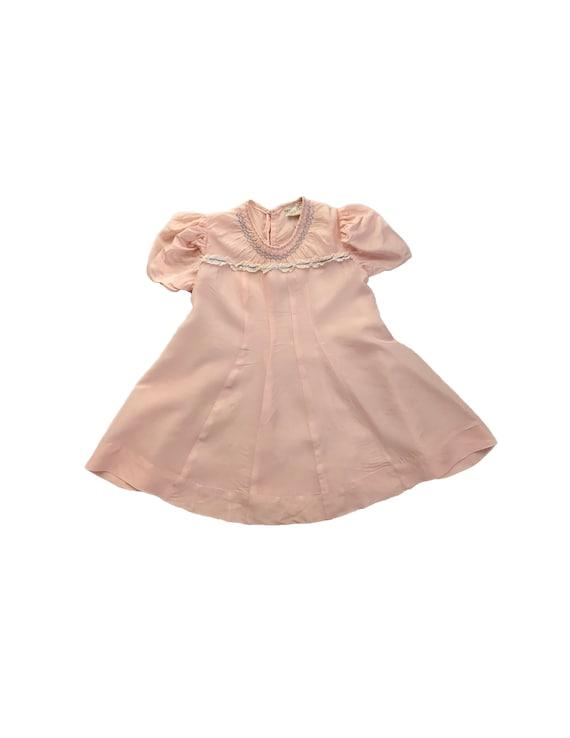 Vintage 1930s 40s Toddler Girl's Little Star Pink