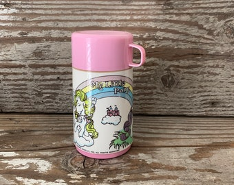 Retro My Little Pony Plastic Lunchbox Thermos Travel Cup