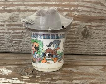 Rare Retro Disneyland Frontierland Plastic Souvenir Mug Cup Collectible Disneyland HTF