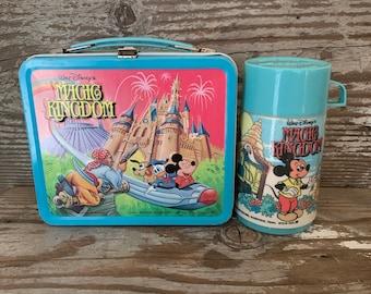 Classic Disneyland Vintage Tin Lunchbox & Thermos