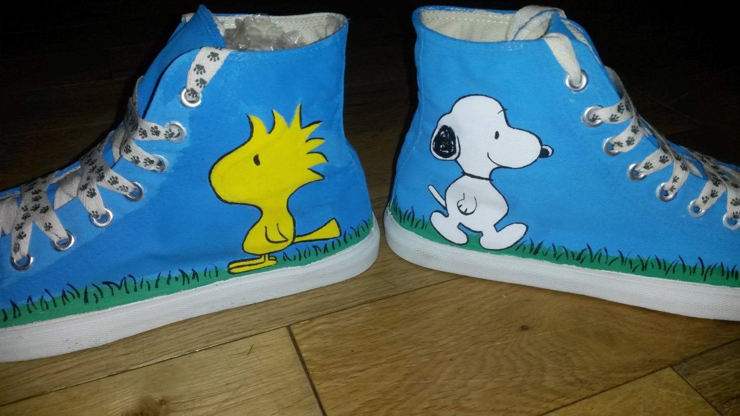Snoopy and Woodstock Peanuts Baseball Inspired Handpainted Converse Style Baseball Peanuts Shoes dcab23