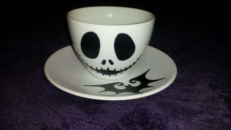 Jack Skellington Nightmare Before Christmas Handpainted Teacup | Etsy