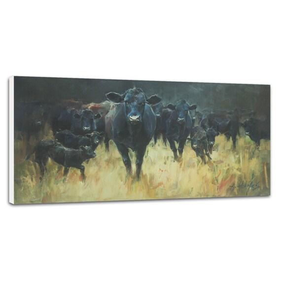 Art Prints Art Wall Decor Angus Cow 11 x 14 Unframed Print