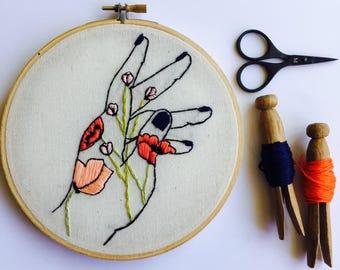 Flower Hand Modern Embroidery