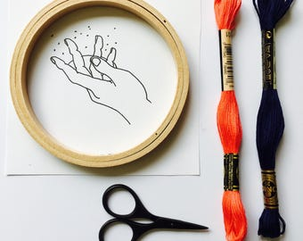 Girl Magic Embroidery Kit DIY Modern Embroidery