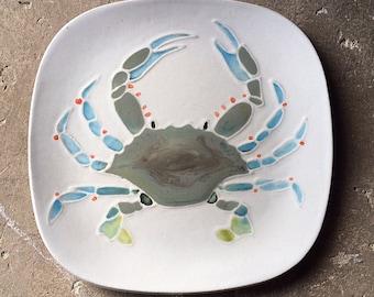 Custom crab plates 25 dinner size