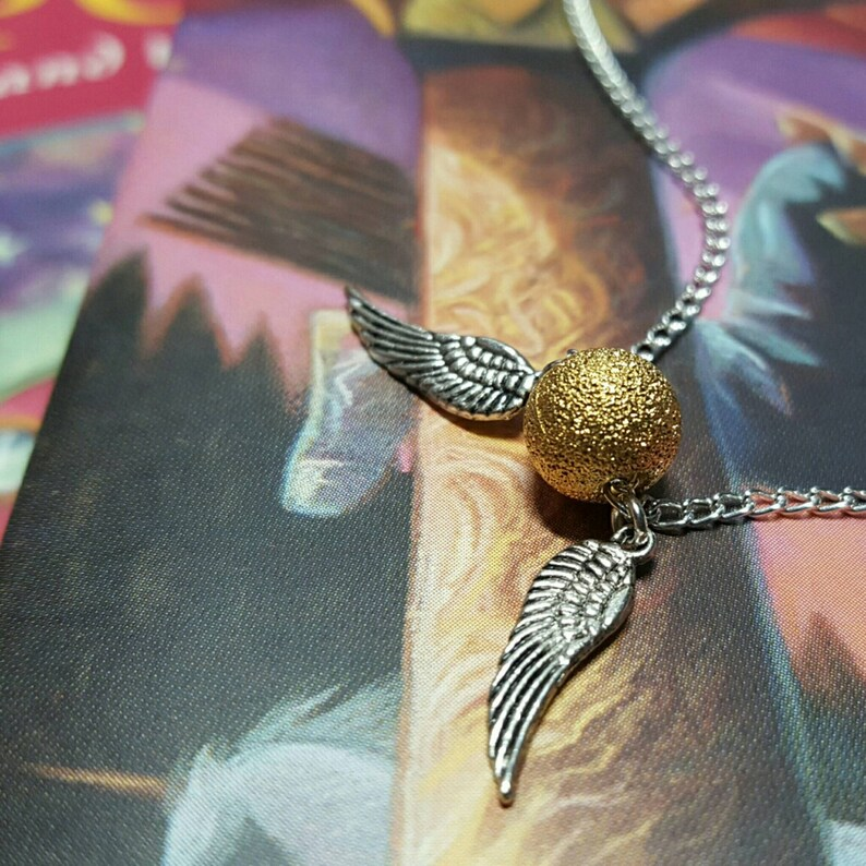 Necklace The SNITCH IS GOLDEN charm 18 chain necklace image 0