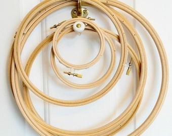 """Embroidery hoop, 15cm (6""""), wooden hoop"""