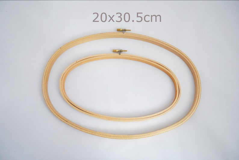 Oval embroidery hoop 20x30.5cm 8x12 wooden hoop image 0