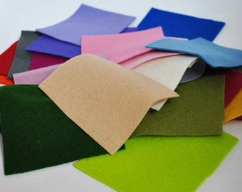 100% Pure Wool Felt Scrap Bag - 50g (approx 1.8 oz)