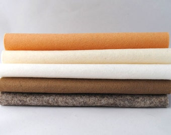100% Wool Felt Sheets - 'God save the cream'