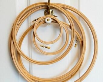 """9"""" Embroidery hoop, (23cm), wooden hoop"""