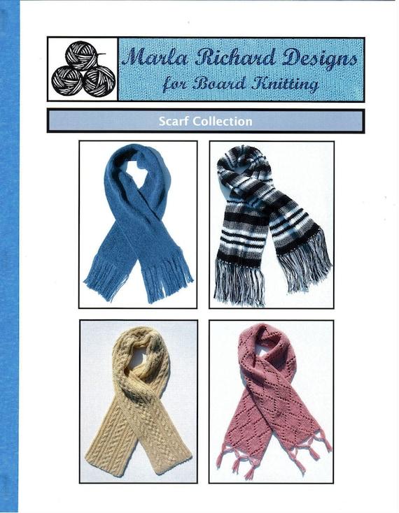 Tejer patrones de tablero bufandas bufanda telar | Etsy