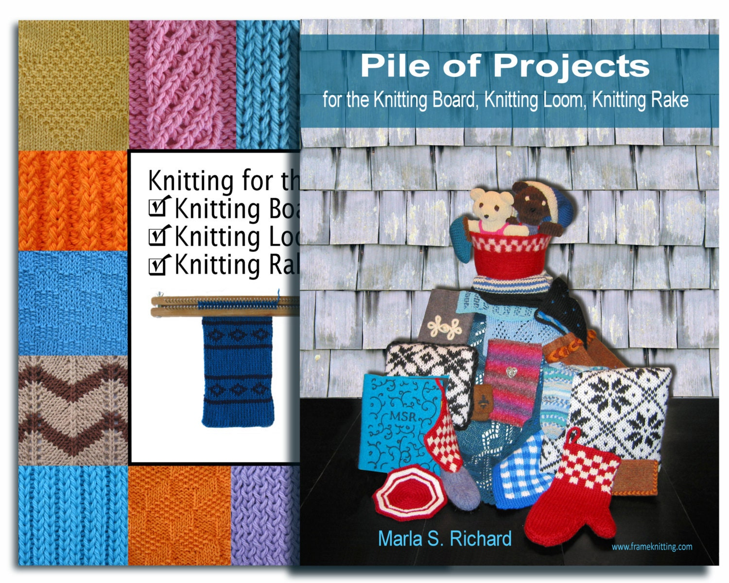Knitting Board Loom Books 2 Book Combo For The Knitting Etsy