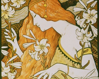 Wall Decor ART NOUVEAU L'ermitage Print by Paul Berthon from 1897