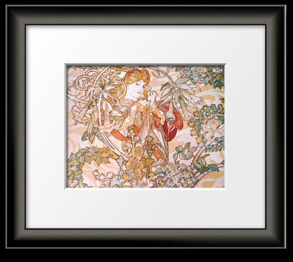 Art Nouveau Art Print Alphonse Mucha Collage of 4 Seasons-Fabulous
