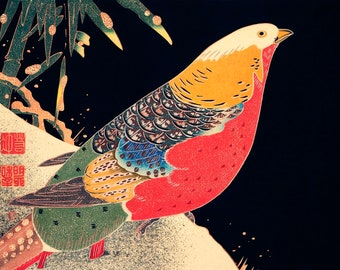 Art Print/Japanese/Colorful Print/Bird Print