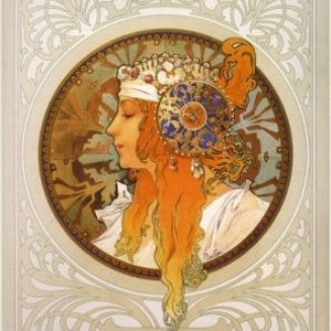 Alphonse Mucha Poster From 1897print Of Famous Biscuit Ad Etsy