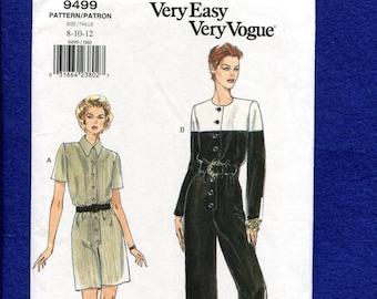 19cc1619cbe Vogue 9499 Sophisticated Mechanic s Jumpsuit   Romper Size 8..10..12 UNCUT