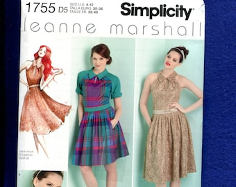 Simplicity 1755 Designer Flirty Dresses Size 4 to 12 UNCUT