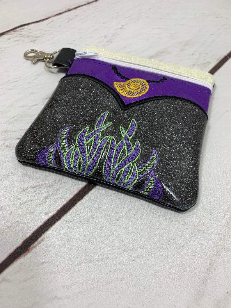 Zipper Pouch Coin Purse Sea Witch Witch Bag Villain Villains Sea Hag Mermaid Evil