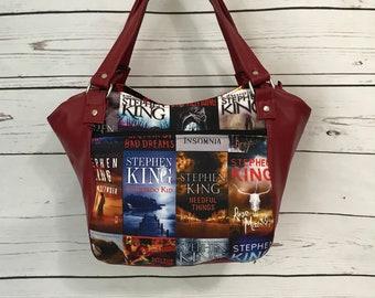 Bag, Purse, Handbag, Books, Horror, King, Scary, Creepy, Book Lover, Tote, Steven, Book