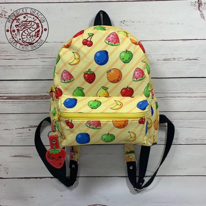 Mini Backpack Backpack Fruit Kawaii Fruit Basket Bag image 0