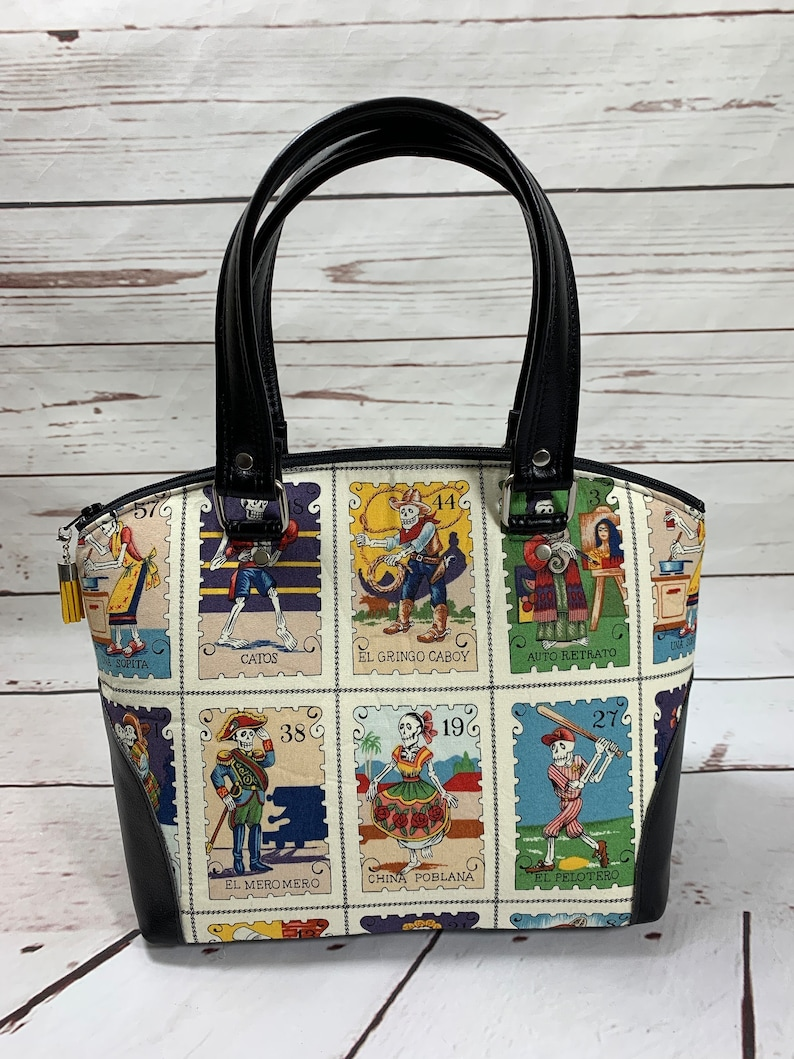 Dome Handbag Dia de los Muertos Day of the dead Loteria image 0