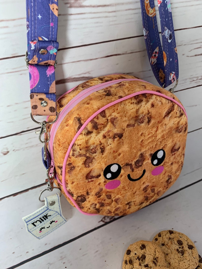 Crossbody Bag Purse Cookie Cookie Purse Milk and Cookies image 0