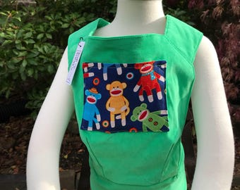 Soft Doll Carrier - Green. Pick your pocket fabric!