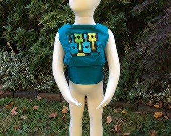 Soft Doll Carrier - Teal with Guitars