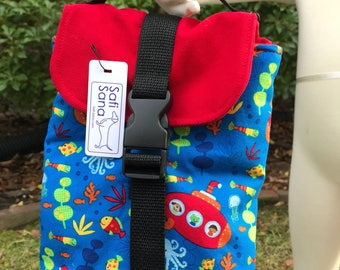 Under the Sea in my Red Submarine Insulated Lunch Bag