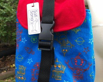 Retro Robots Insulated Lunch Bag