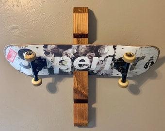 Wall Mounted Skateboard Holder Organizer Rack