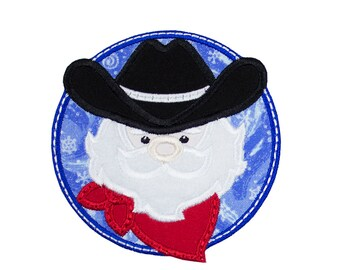 Cowboy Santa Patch in your choice of a Sew on Patch or Iron on Patch bacaa20ef32