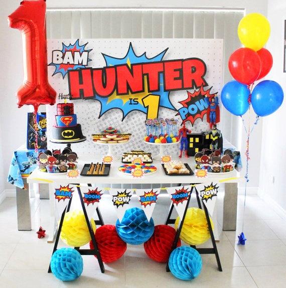 SUPERHERO Backdrop Design For Birthday Party