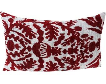 Silk Velvet Ikat Pillow Cover VP91, Bohemian pillow, Velvet Ikat Pillow, Velvet Pillow, Velvet Pillow Cover, Ikat Pillows, Throw Pillows