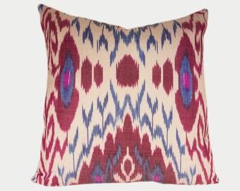 Ikat Pillow, Ikat Pillow Cover IP109 (a402c), Ikat throw pillows, Designer pillows, Decorative pillows, Accent pillows