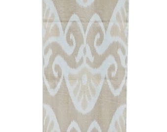 Silk Ikat Fabric, Ikat Fabric by the yard, Hand Woven Fabric , F40