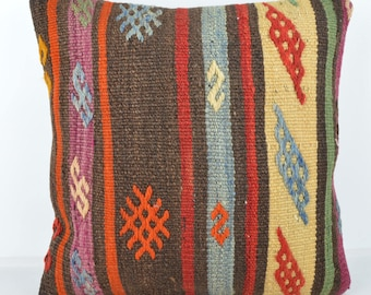 Wool Pillow, Kilim Pillow,  Decorative Pillows, Designer Pillows, Bohemian Pillow, Accent Pillows, Throw Pillows, KP67 (tp1061)