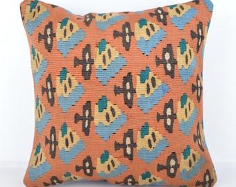 Wool Pillow, Kilim Pillow,  Decorative Pillows, Designer Pillows,  Bohemian Pillow, Accent Pillows, Throw Pillows, KP68 (tp1073)