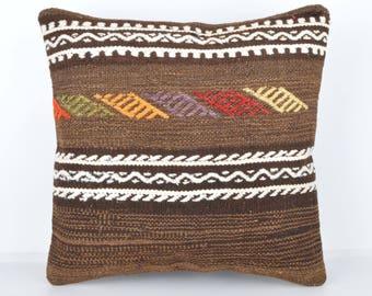 Wool Pillow, Kilim Pillow,  Decorative Pillows, Designer Pillows,  Bohemian Pillow, Accent Pillows, Throw Pillows, KP38 (tp1001d)