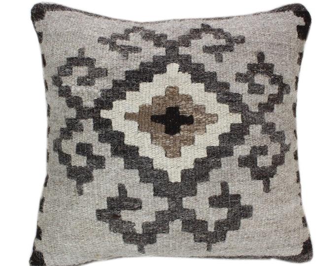 NEW Wool Pillow, Kilim Pillow, Decorative Pillows, Designer Pillows,  Bohemian Pillow, Accent Pillows, Throw Pillows, NKP2