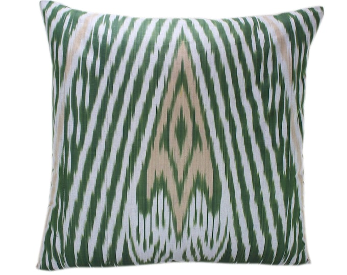 Cotton Ikat Pillow, Hand Dyed Ikat Pillow Cover,  IP237, Ikat throw pillows, Designer pillows, Decorative pillows, Accent pillows